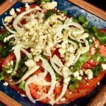 Heirloom Tomato & Fennel Salad with Crumbled Paneer and Cilantro